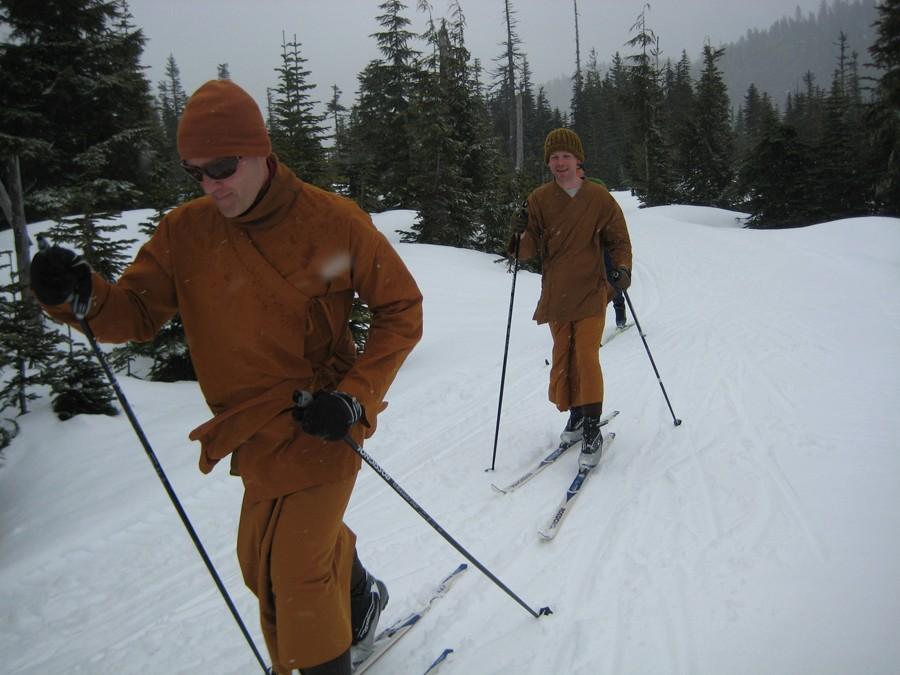 XC Skiing Monks